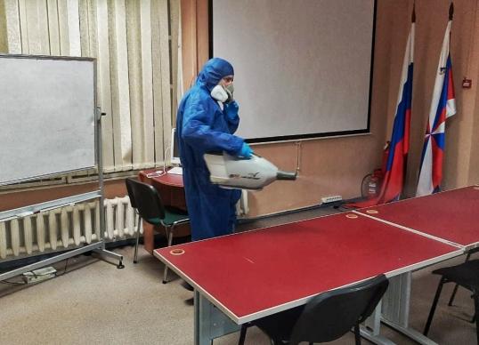 Ежедневная санитарная обработка помещений Академии
